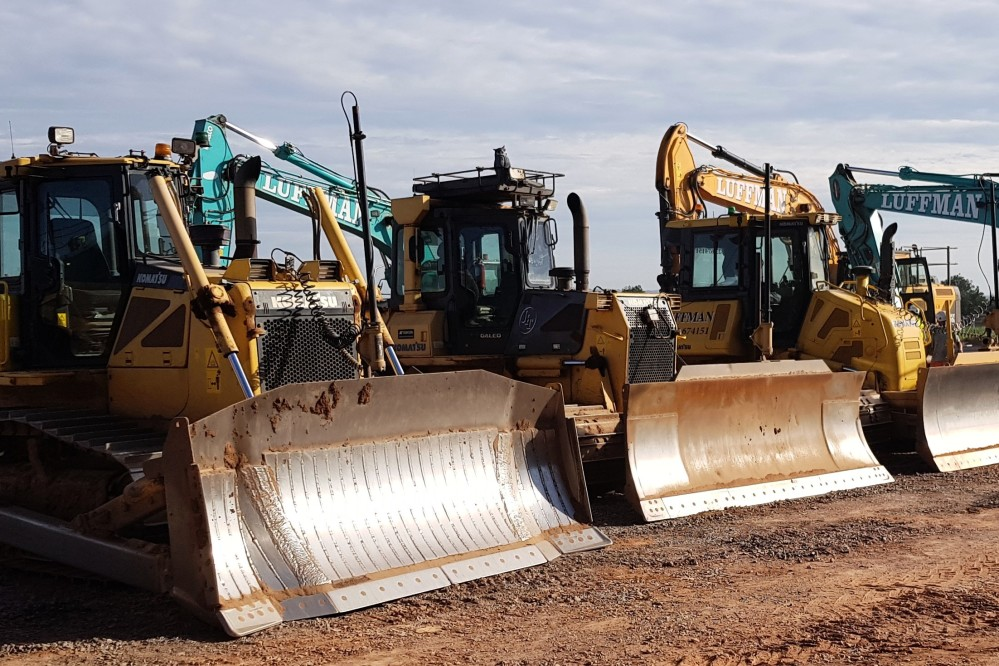 Dozers fitted with GPS modelling technology