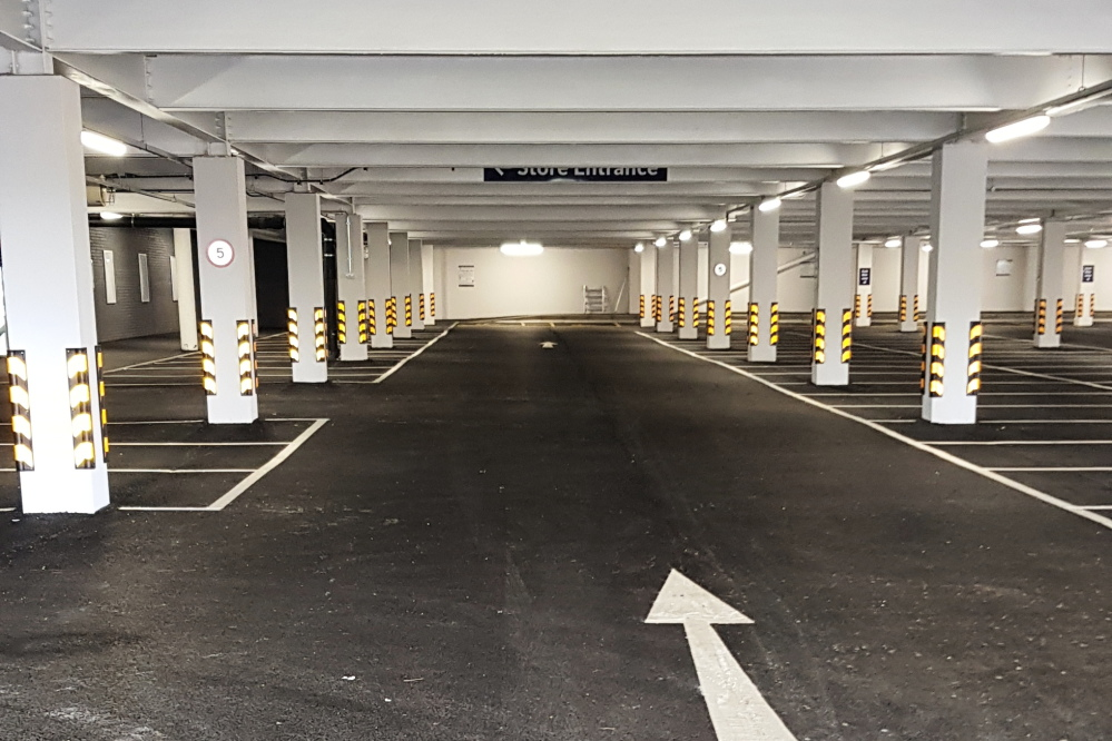 Lower level carpark