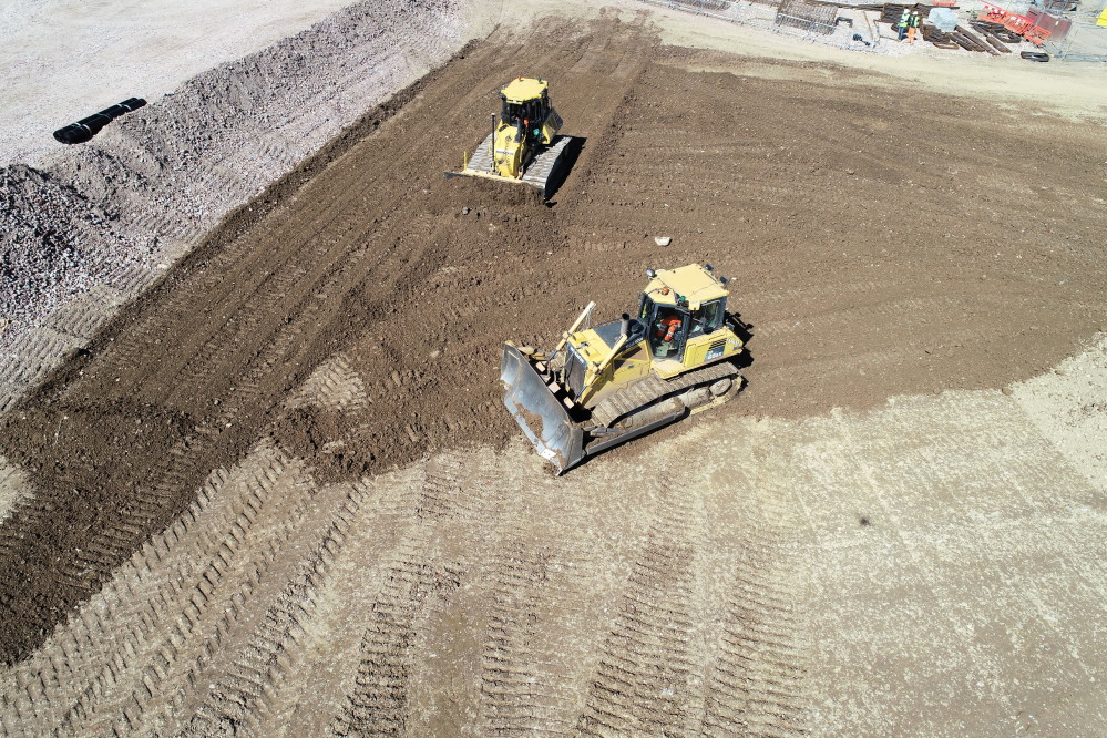 Earthworks using GPS modelling technology